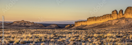 Canvas Prints Deep brown Shiprock South