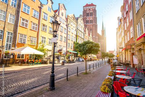 Obraz Ulica na Starym Mieście w Gdańsku - fototapety do salonu