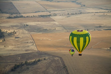 Aerial View Of Two Hot Air Bal...
