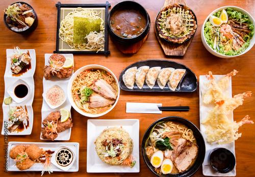 Foto op Plexiglas Japan Japanese food served on the table