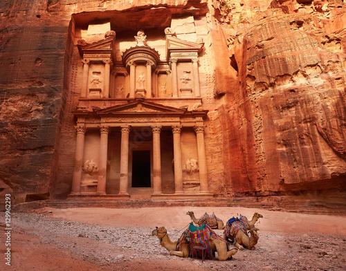 Fotografie, Obraz Al Khazneh - the treasury, ancient city of Petra, Jordan