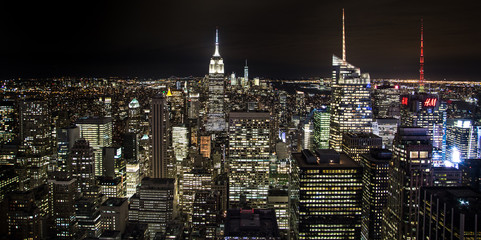 Panel Szklany Nowy York The New York City in the night