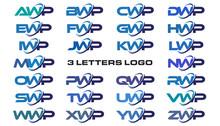 3 Letters Modern Generic Swoosh Logo AWP, BWP, CWP, DWP, EWP, FWP, GWP, HWP, IWP, JWP, KWP, LWP, MWP, NWP, OWP, PWP, QWP, RWP, SWP, TWP, UWP, VWP, WWP, XWP, YWP, ZWP