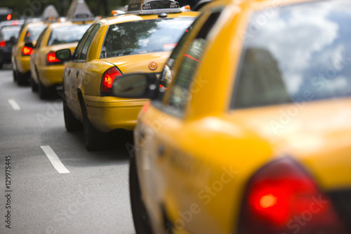 Staande foto New York TAXI New York City cabs