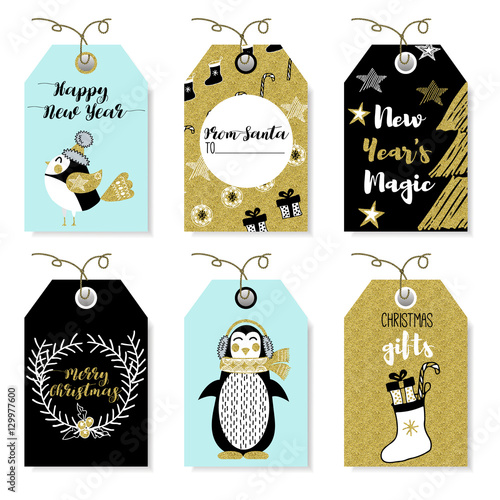 christmas animals bear squirrel rabbit owl bird rooster penguin