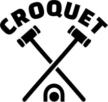 Crossed Croquet Mallets With W...