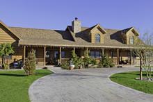 Entrance To A Ranch Home Exter...