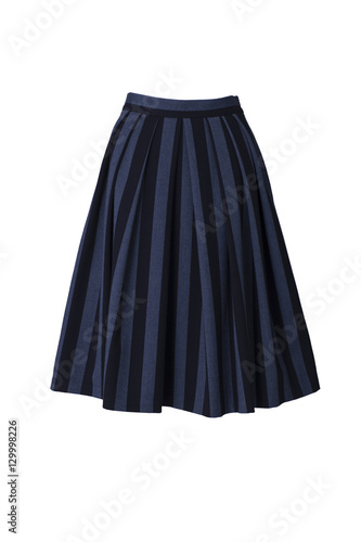 Fotografia Striped skirt in retro style isolated on white background