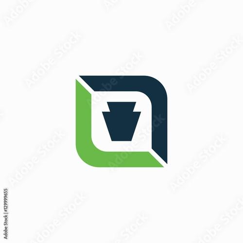 Fotografia, Obraz  Keystone logo design