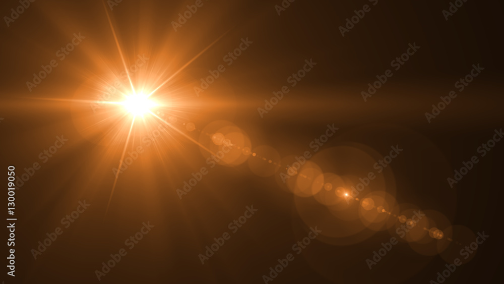Fototapety, obrazy: abstract of lighting for background. digital lens flare in dark background