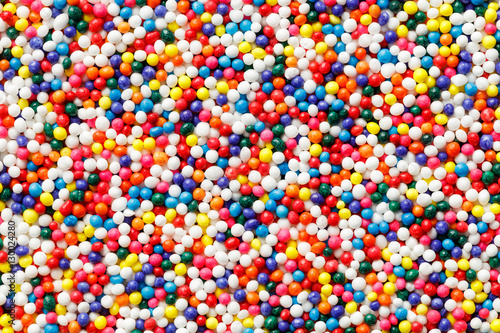 Fotomural Rainbow nonpareils cupcake decoration sprinkles