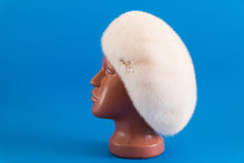 Pearly Beret From Natural Mink...