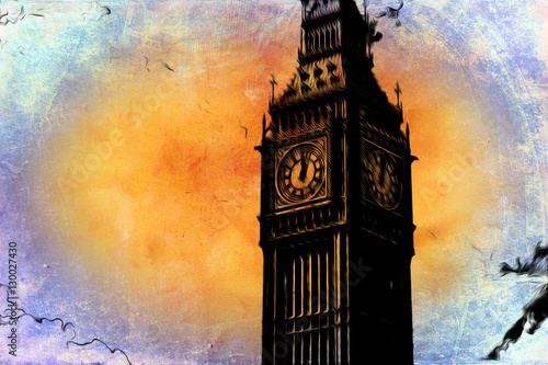 Plakaty ilustracja Londynu