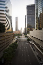 Flower Street, Downtown, Los Angeles, California