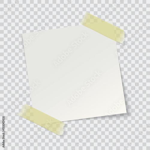 white paper reminder, vector Wall mural