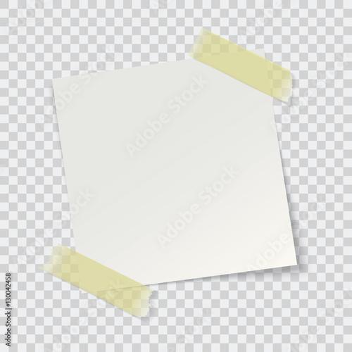 Fotografia  Przypomnienie białym papierze, wektor