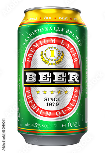 Photo sur Toile Biere, Cidre Beer can isolated on white background