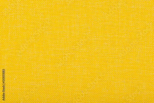 Natural linen fabric for embroidery. Yellow color.