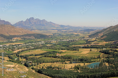 Staande foto Zuid Afrika Weinregion bei Franschhoek, Südafrika
