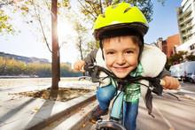 Smiling Boy In Safety Helmet R...