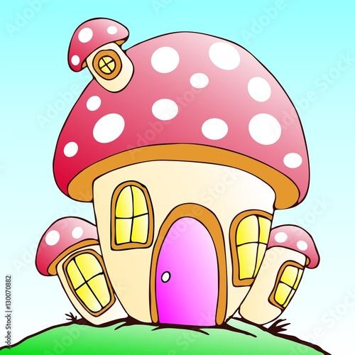 Fotografie, Obraz  House of Gnome