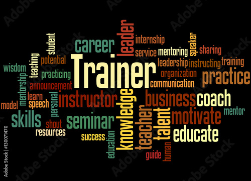 Trainer, word cloud concept 6 - Buy this stock illustration