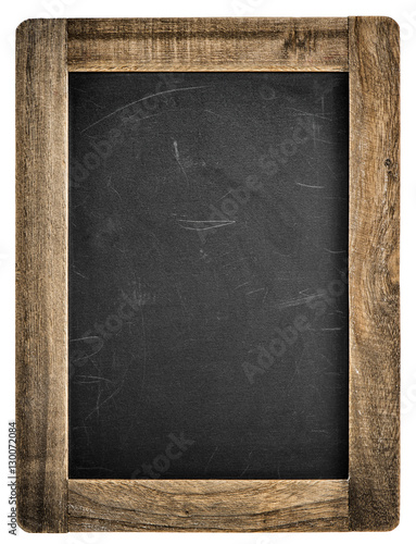 Chalkboard wooden frame Vintage blackboard isolated - Buy this stock ...