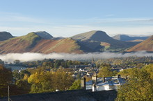 View Over Keswick To Catbells, Causey Pike, Robinson, Lake District, Cumbria