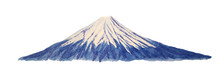 Fuji Mountain Painted With Watercolor