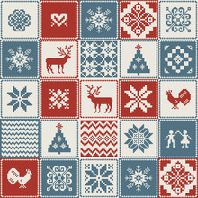 Christmas Pattern In Patchwork...