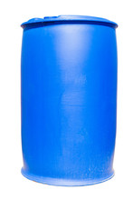Plastic Blue Drum Being Use In...