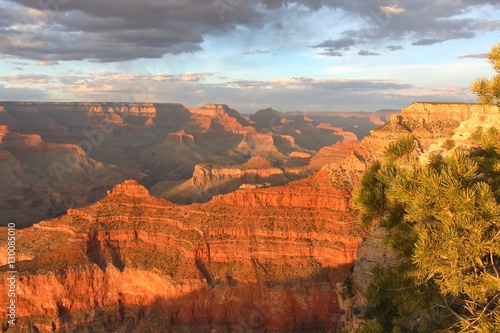 Keuken foto achterwand Rood traf. Grand Canyon south rim at sunset