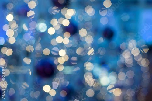 Fotografie, Obraz  illuminations abstraites bleu de la nuit