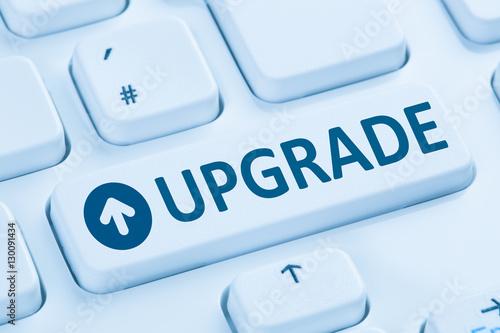 Fotografía  Upgrade upgraden Software Programm blau Computer Tastatur
