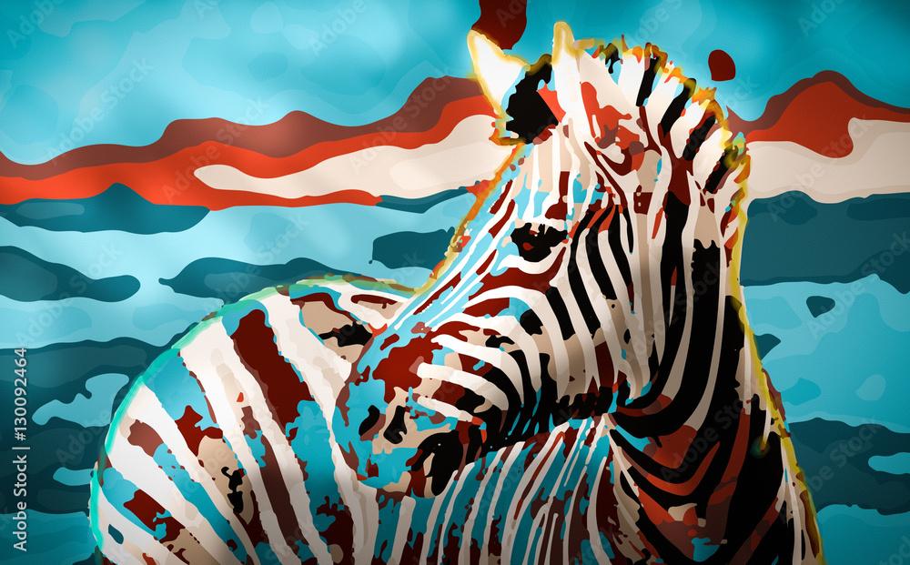 Fototapety, obrazy: Zebra Sunset