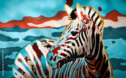 Fototapeta Zebra Sunset obraz