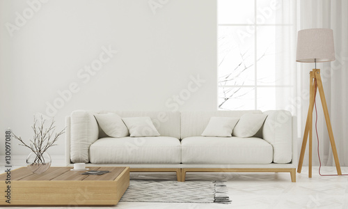 Photographie  White living room
