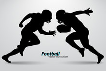 Silhouette Of A Football Playe...