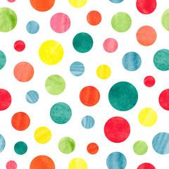 Seamless colorful dots patt...