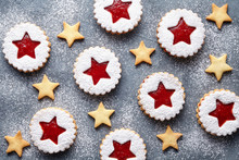 Linzer Star Cookies With Jam F...