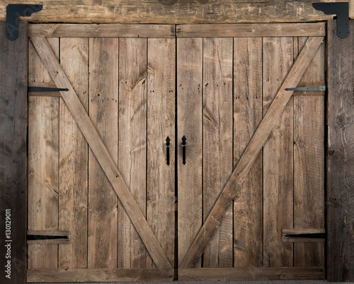 Wooden Barn Door Swing Style Buy This Stock Photo And