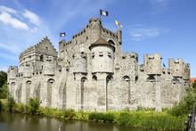 Castle Gravensteen (Castle Of The Counts), Rekelingestraat, Ghent, West Flanders, Belgium