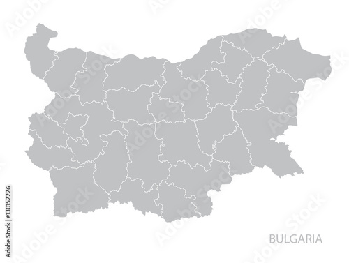 Map of Bulgaria. Canvas Print