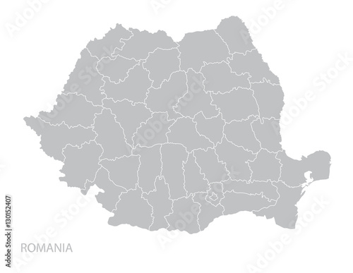 Fototapeta Map of Romania