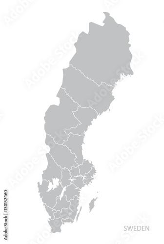 Fotografía  Map of Sweden.