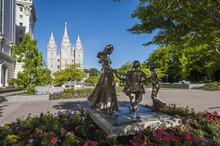 Joyful Moment Statue, Temple Square, Salt Lake City, Utah