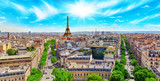 Fototapeta Fototapety Paryż - Beautiful panoramic view of Paris from the roof of the Triumphal