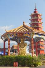 Pagoda At Ten Thousand Buddhas Monastery, Shatin, New Territories, Hong Kong, China