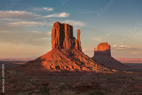 Fototapeta  Red rocks in Monument Valley at sunset, Utah, USA.