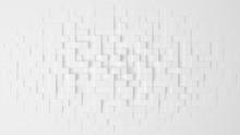 White Geometric Abstract Background. 3d Illustration, 3d Renderi